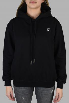 Off-White black hooded sweatshirt.