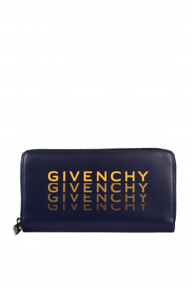 Givenchy wallet in blue leather.
