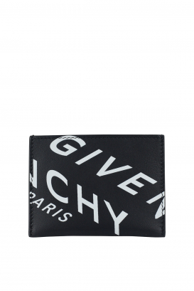 Givenchy card holder in black calfskin.