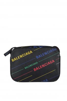 Balenciaga shoulder bag in black leather.