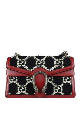 Dionysus Gucci handbag in tweed and leather.