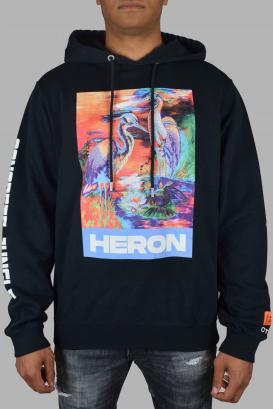 Heron Preston hoodie in black cotton.
