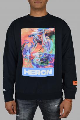 Heron Preston sweater in black cotton.