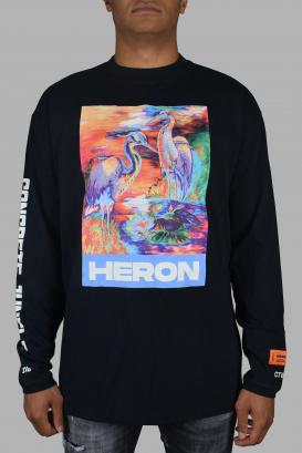 Heron Preston long sleeve t-shirt in black cotton.