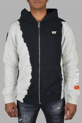 Heron Preston x Cat hoodie in black and white gradient cotton.