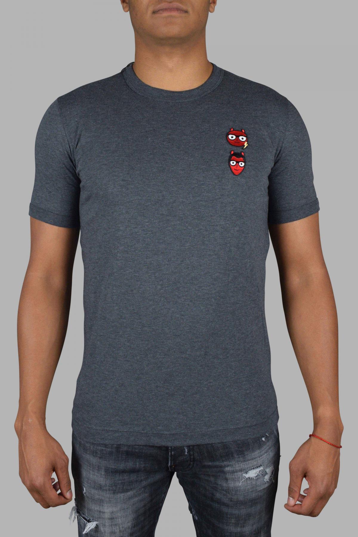 Dolce & Gabanna T-Shirt in gray cotton.