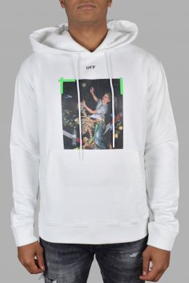 Off-White white hoodie.