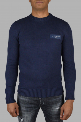 Off-White navy blue sweater.