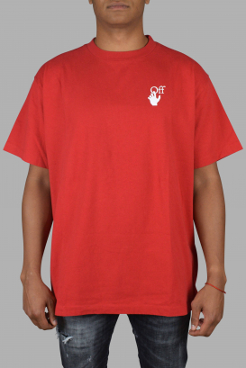 Red oversize Off-White T-Shirt.