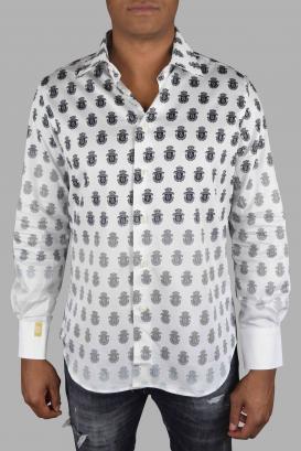Billionaire shirt in white cotton.