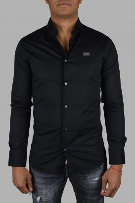 "Istitutional Philipp Plein ""Limited Edition"" shirt in black cotton poplin."