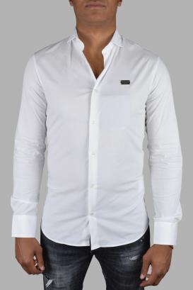 "Istitutional Philipp Plein ""Limited Edition"" shirt in white cotton poplin."