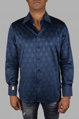 Billionaire shirt in dark blue cotton.