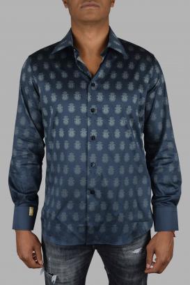 Billionaire shirt in black cotton.