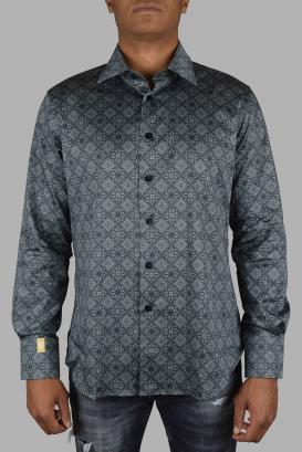 Billionaire shirt in gray cotton.