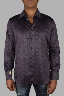 Billionaire shirt in burgundy cotton.