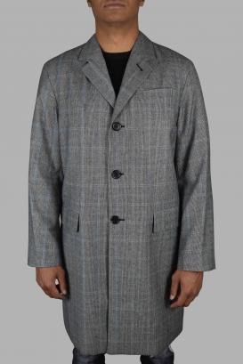 Prada gray coat.