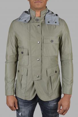 Dolce & Gabanna beige hooded jacket.