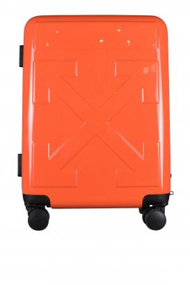 Orange Off-White suitcase.