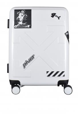 Matt white Off-White suitcase.