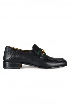 Gucci loafers in black goatskin.