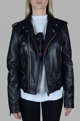 Philipp Plein perfecto jacket in black leather.