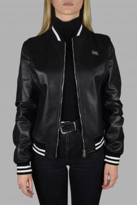 Philipp Plein bomber jacket leather with zip closure.