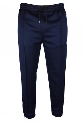Moncler navy blue track pants.
