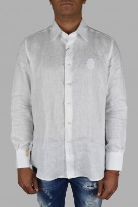 Billionaire shirt in white linen.
