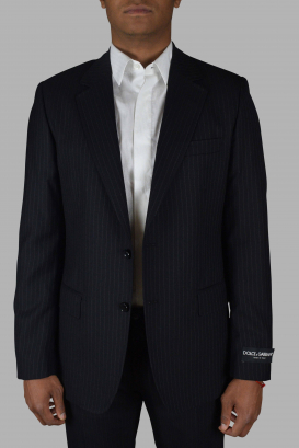 Two-piece suit from Dolce & Gabanna in black striped.