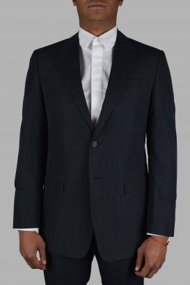 Prada two-piece suit in black cotton.