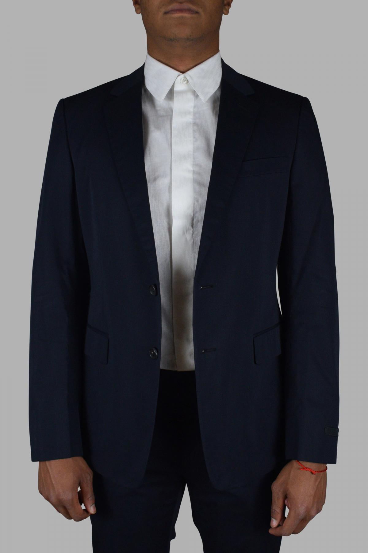 Prada two-piece suit in blue cotton.