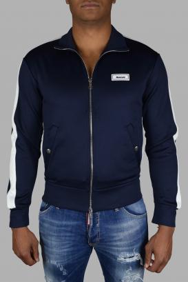 Moncler navy blue track jacket.