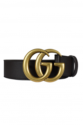 Gucci belt in smooth brown leather.