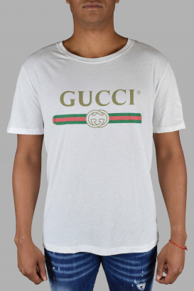 Gucci white t-shirt.
