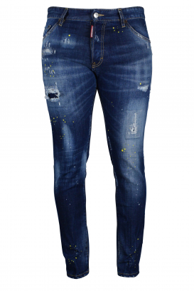 Cool Guy Jean Dsquared2 blue with yellow paint stains.
