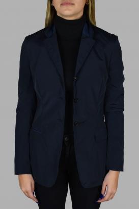 Light blue Prada jacket with collar.