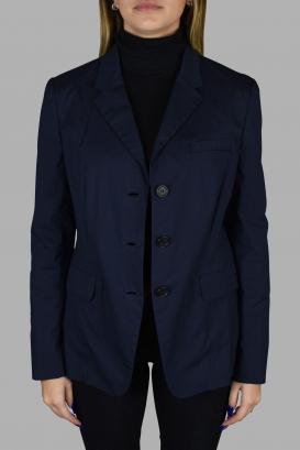 Prada light blue jacket.