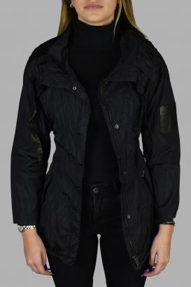 Prada coat in black nylon.