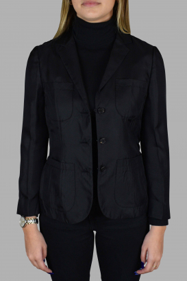 Prada black light jacket with collar.