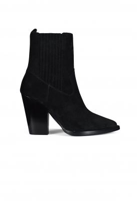 Saint Laurent Theo Chelsea boots in black suede.