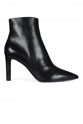 Saint Laurent point-toe ankle boots.