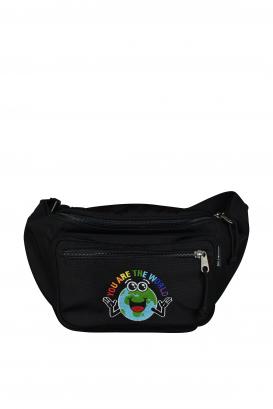 Balenciaga bag in black polyester.