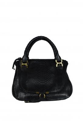 Marcie Chloé black python handbag.