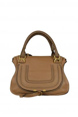 Marcie Chloé handbag in brown grained calfskin.
