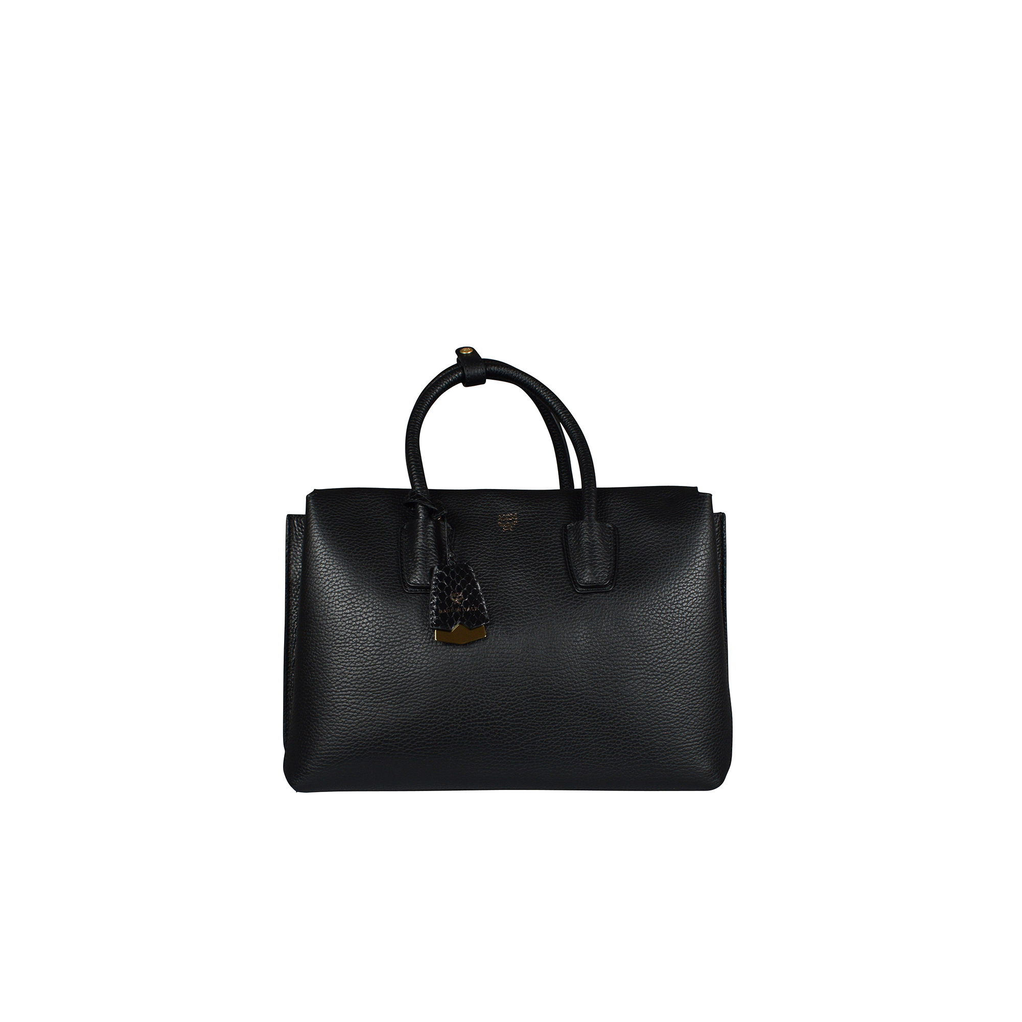 Milla MCM handbag in black leather.