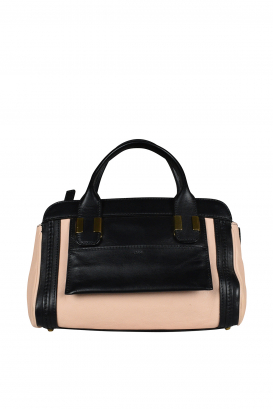 Mini Alice bag in black and pink leather.