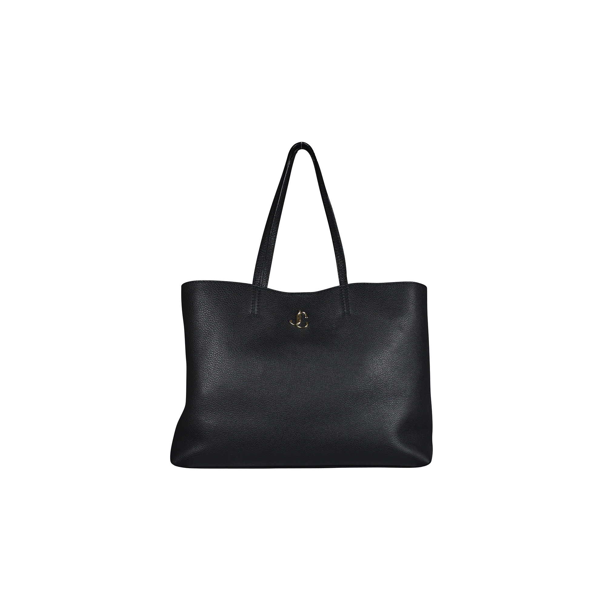 Nine2five Jimmy Choo handbag in black grained leather.