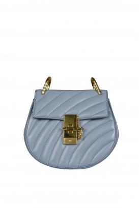 Mini Bijou Drew Chloé handbag in blue quilted leather.