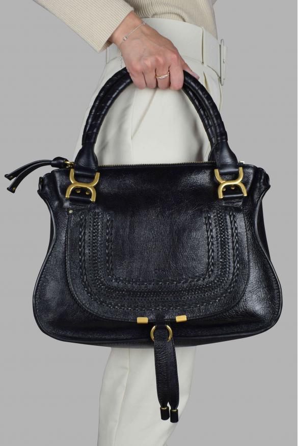 Marcie Chloé handbag in black leather.